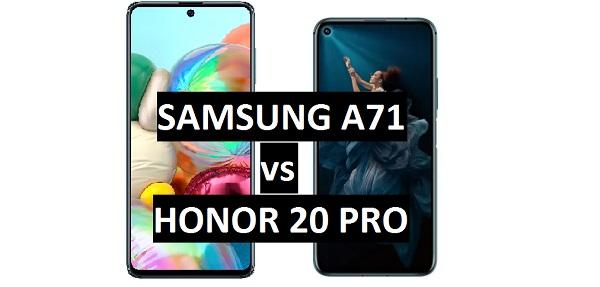 Samsung-Galaxy-A71 vs honor 20 pro