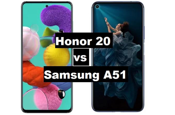 honor 20 vs samsung galaxy a51