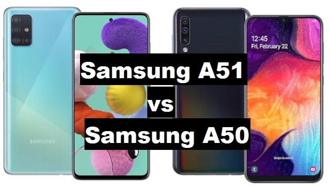 samsung a51 vs samsung a50