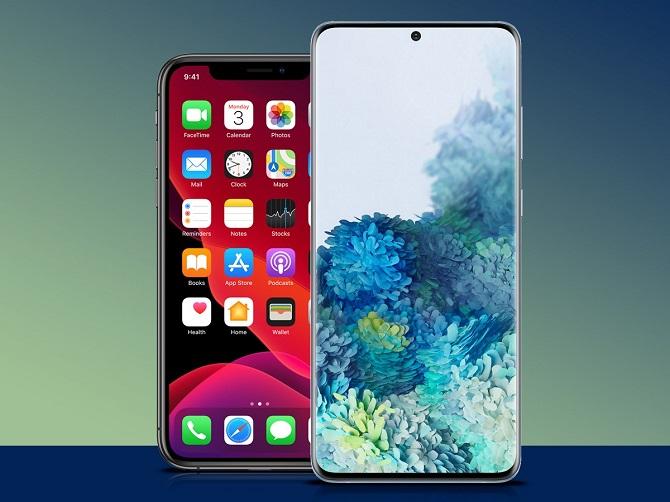iphone 11 pro vs samsung s20