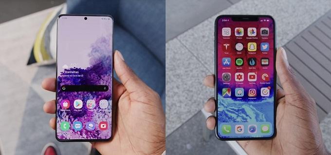 samsung s20 vs iphone 11
