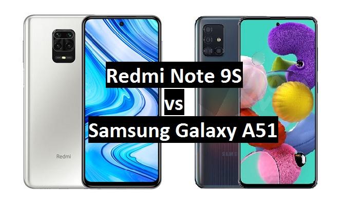 redmi note 9s vs samsung galaxy a51