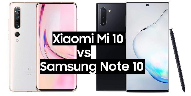 xiaomi mi 10 vs samsung galaxy note 10