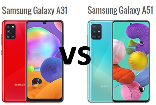 samsung galaxy a51 vs galaxy a31