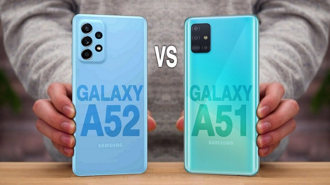 samsung galaxy a52 vs a51
