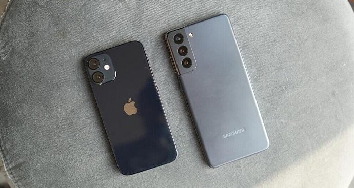 samsung s21 vs iphone 12