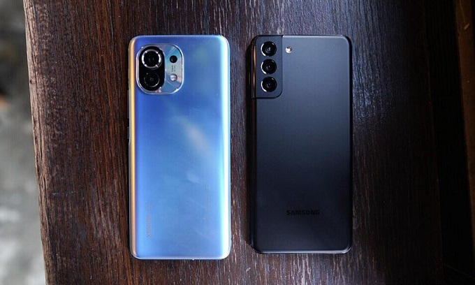 sasung galaxy s21 vs xiaomi mi 11
